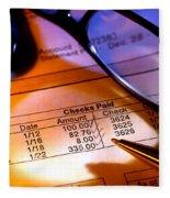 Checking Account Statement Fleece Blanket