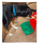 Looking For His Gifts Fleece Blanket