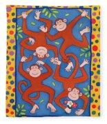 Cheeky Monkeys Wc Fleece Blanket