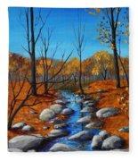Cheerful Fall Fleece Blanket