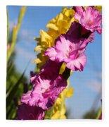 Cheerful Gladiolus Fleece Blanket
