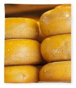 Cheese Wheels Fleece Blanket