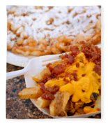 Cheesy Bacon Fries And Funnel Cake Fleece Blanket