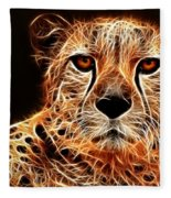 Cheetah Artwork Fleece Blanket