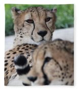 Cheetah Awakening Fleece Blanket