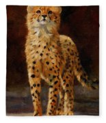Cheetah Cub Fleece Blanket