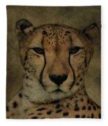 Cheetah Face Fleece Blanket