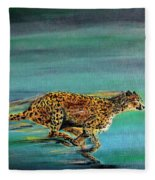 Cheetah Run Fleece Blanket