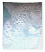 Cheetah Visits The Camp At Night Fleece Blanket