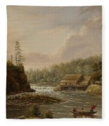 Cheevers Mill On The St. Croix River Fleece Blanket