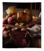 Chef - Food - A Tribute To Rembrandt - Apples And Rolls  Fleece Blanket