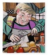 Chef With Heart Fleece Blanket
