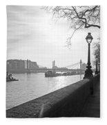 Chelsea Embankment London Uk 3 Fleece Blanket