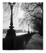 Chelsea Embankment London Uk 5 Fleece Blanket