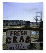 Chelsea Rose Crab Fleece Blanket