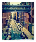 Chelsea Street As Seen From The High Line Park. Fleece Blanket