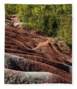 Mars On Earth - Cheltenham Badlands Ontario Canada Fleece Blanket