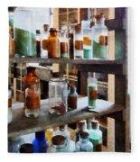 Chemistry - Bottles Of Chemicals Fleece Blanket