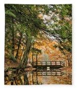 Chenango Valley State Park Fleece Blanket