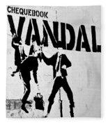 Chequebook Vandal Fleece Blanket