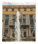 Cherokee County Courthouse 3 Fleece Blanket