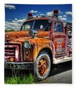 Cherokee Fire Truck Fleece Blanket