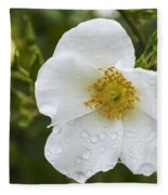 Cherokee Rose With Rain Drops Fleece Blanket