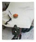 Cherries And Reflector Fleece Blanket