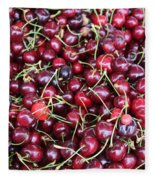 Cherries In Des Moines Washington Fleece Blanket
