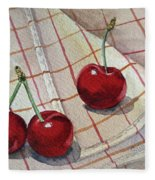 Cherry Talk By Irina Sztukowski Fleece Blanket