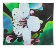 Cherry Blosom Fleece Blanket
