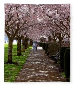 Cherry Blossom Friends Fleece Blanket