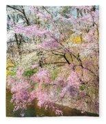 Cherry Blossom Land Fleece Blanket