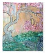 Cherry Blossom Fleece Blanket