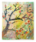 Cherry Blossoms 1 Fleece Blanket