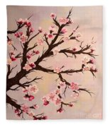 Cherry Blossoms 2 Fleece Blanket