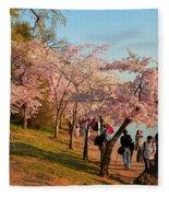 Cherry Blossoms 2013 - 007 Fleece Blanket