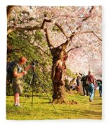 Cherry Blossoms 2013 - 009 Fleece Blanket