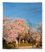 Cherry Blossoms 2013 - 015 Fleece Blanket
