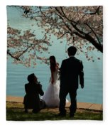 Cherry Blossoms 2013 - 054 Fleece Blanket