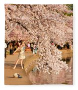 Cherry Blossoms 2013 - 076 Fleece Blanket