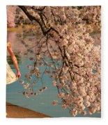 Cherry Blossoms 2013 - 082 Fleece Blanket