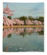 Cherry Blossoms 2013 - 083 Fleece Blanket