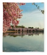 Cherry Blossoms 2013 - 084 Fleece Blanket