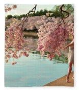 Cherry Blossoms 2013 - 085 Fleece Blanket