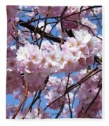 Cherry Blossom Trees Of Branch Brook Park 3 Fleece Blanket