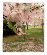Cherry Blossoms Fleece Blanket