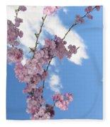 Cherry Floral Fountain Fleece Blanket