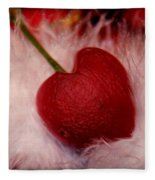 Cherry Heart Fleece Blanket