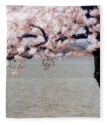 Cherry Tree And The Potomac Fleece Blanket